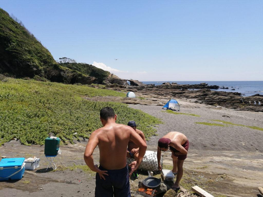 三浦半島で野営