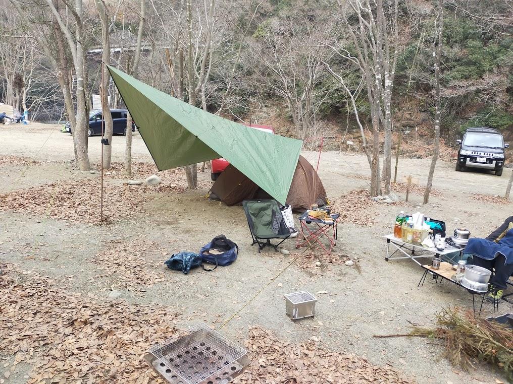 新戸キャンプ場でグロキャン